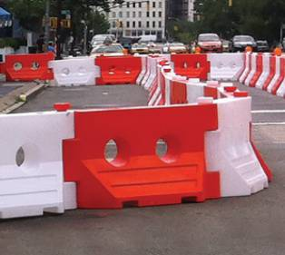 water filled barricades rental